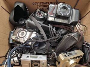 Tons of point and shoot film cameras.