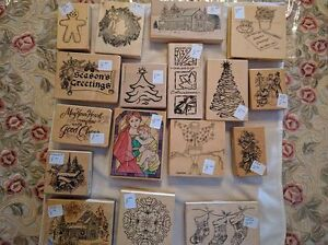Assorted Christmas-Themed Rubber Stamps - $8.00 and Up Kawartha Lakes Peterborough Area image 1