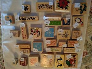 Assorted Christmas-Themed Rubber Stamps - $1.00 and Up Kawartha Lakes Peterborough Area image 3