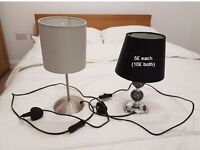 Two lamps in perfect condition for sale