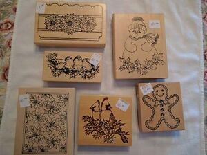 Assorted Christmas-Themed Rubber Stamps - $8.00 and Up Kawartha Lakes Peterborough Area image 4
