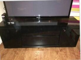 Next solid black high gloss TV stand or storage unit!