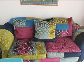 Immaculate Sofa workshop multi coloured sofa