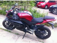 New shape Yamaha YZF R125cc in good condition.