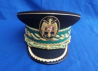 Spanish Franco Police Commissioners Visor Hat Peaked Cap Badge Military Uniform?