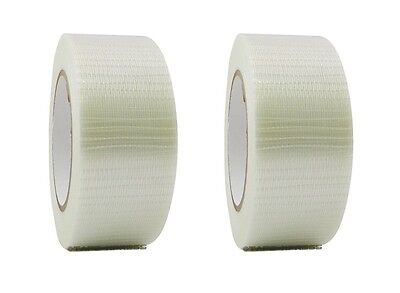 2 Rolls Bi-directional Filament Strapping Tape 2 X 60 Yd Free Shipping