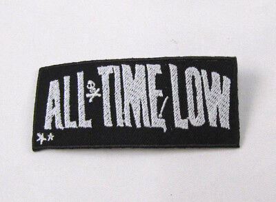 ALL TIME LOW  Embroidered Iron On Sew On Patch  Rock Band