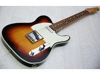 Fender 62 Telecaster Custom Japanese Three Tone Sunburst - Great Player!