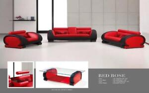 Lord Selkirk Furniture - Red Rose OR White Rose - 3PC Set Sofa, Loveseat and Chair