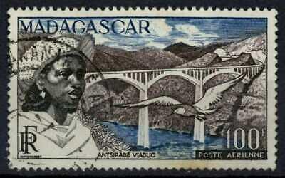 Madagascar 1952 SG#326, 100f Viaduct, Bird Used #E83431