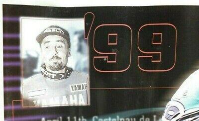 Affiche huile motul motocross cross 500cc andrea bartolini 1999 yamaha 60x80 cm