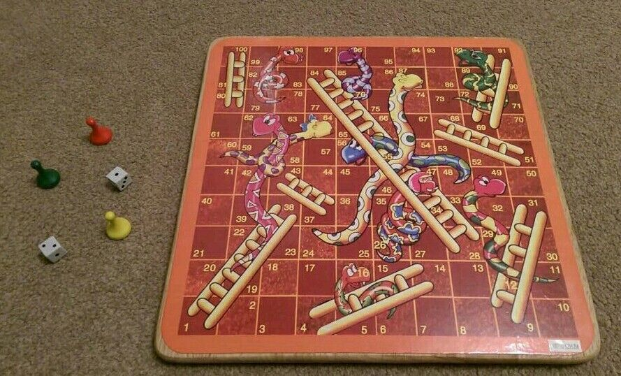 Snakes and Ladders Wooden Board Game | in Southampton ...