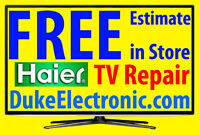 Haier TV repair LED HDTV, LCD TV, 3D, 4K TV NO POWER, No Picture