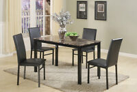 Brand NEW Aiden Marble 5PC Dinette! Call 506-634-1010!