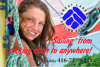 Sailing lessons - Great Lakes Sailing School - for novice sailor