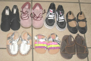 7 New or barely used Baby Shoes/Boots  size 2-4, $40 for ALL