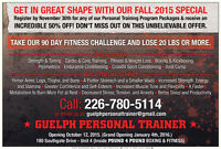 50 % Off All Personal Training Packages