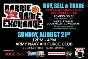 Barrie Game Exchange TOMORROW 125 Tables, TONS of Games!!