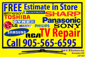 < TV repair FREE ESTIMATE, HDTV, No Power, No Picture, Any Issue
