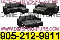 NO TAX 2PCS SECTIONAL SOFA BED