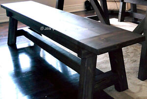RECLAIMED SALVAGED WOOD DINING/FAMILY ROOM- BENCH/CHAIR/SEAT