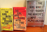 THE GIRL WITH THE DRAGON TATTOO Trilogy.  3 book trilogy: