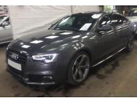 2014 GREY AUDI A5 SPORTBACK 3.0 TDI 245 QUATTRO BLACK EDT CAR FINANCE FR £75 PW