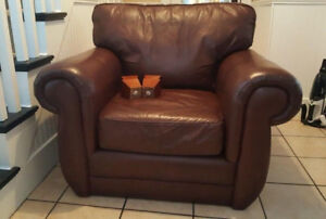 Soft Large Leather Lounge Chair