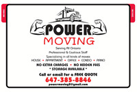 Power moving- the professional movers are here for you!!