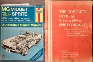 MG Midjet / Austin-Healey Sprite:   livre de référence