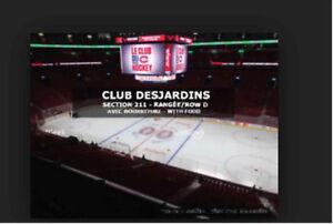 Billets  Canadiens  / Tickets  Canadiens -Club Desjardins A