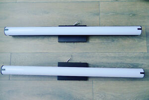 Two slim 36-inch Fluorescent Lamp Fixtures