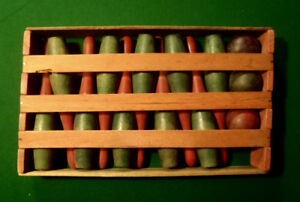 Antique 1900's Ten Pin Bowling Game in Original Wooden  box