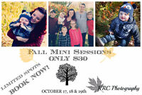 MINI FALL PHOTO SESSIONS - ONLY $30!