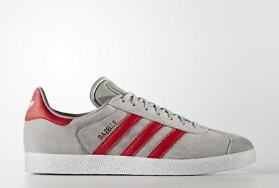 Sneakers BB5257 Zapatillas Adidas Original Gazelle Gris y Rojo