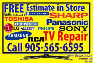 > Any, Smart TV, LED, LCD, 3D, 4K, UHD, Plasma, TV Repair