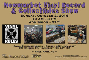 Newmarket Vinyl Record & Collectibles Show - October 2nd