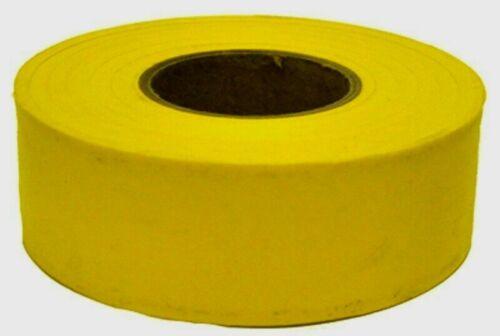 "C.H. Hanson YELLOW Plastic Flagging Tape Marking Ribbon 1.2"" W x 300 ft. L 17024"