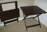 BEAUTIFUL, FOLDING TABLE (RHODESIAN TEAK)