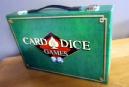 Vintage Top That Card & Dice Games in Case Poker Bridge etc