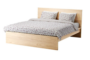 IKEA MALM Full Bedroom Set (white stained oak veneer)