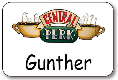 GUNTHER CENTRAL PERK ON FRIENDS NAME BADGE PROP HALLOWEEN COSTUME PIN BACK](Central Halloween)
