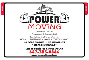 Power Moving - Professional Toronto Movers- FREE quotes