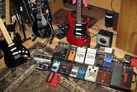 I want to trade non-musical items for guitar or drum gear