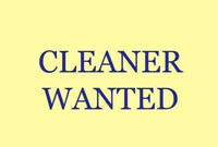 Cleaner required (4-5 hours on Sunday 21st October)