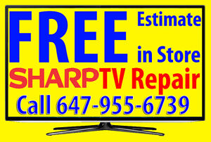 Sharp LED TV Repair, Toronto, Television Repair, Service