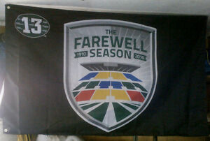 SASKATCHEWAN ROUGHRIDERS PILSNER FAREWELL SEASON FLAG