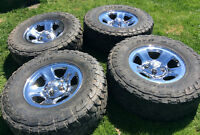 Dodge Ram 1500 rims and tires (( new price ))