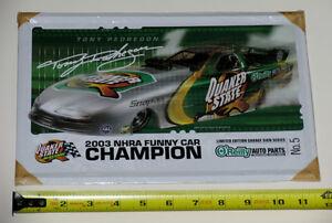 Tony Pedregon 2003 NHRA Funny Car Champion Metal Garage Sign