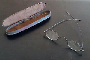 Antique eye glasses with Rare metal case